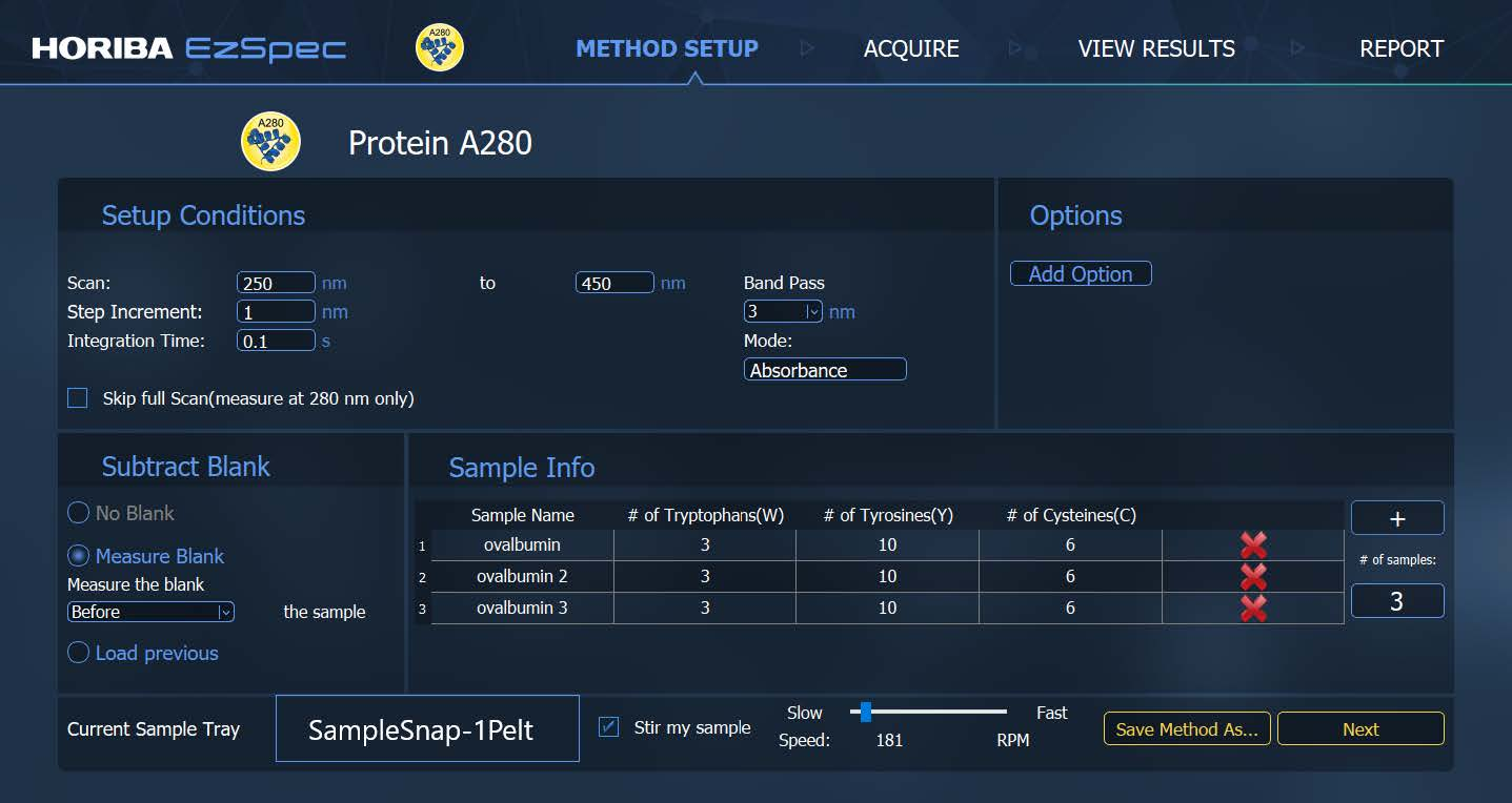 Protein A280 application