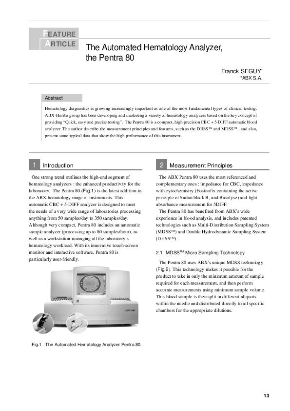 Hematology Instruments - HORIBA