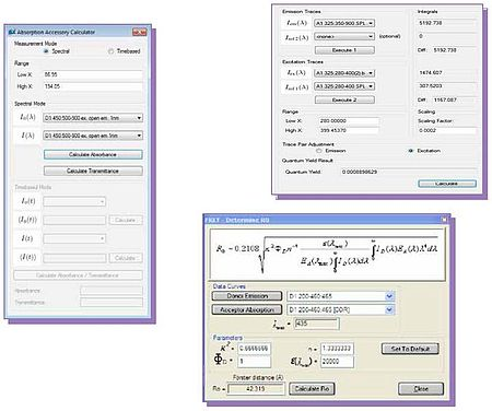 PTI FelixGX incorporates a quantum yield calculator.
