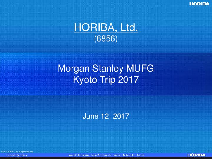 Morgan Stanley Investor Relations >> Presentation Materials