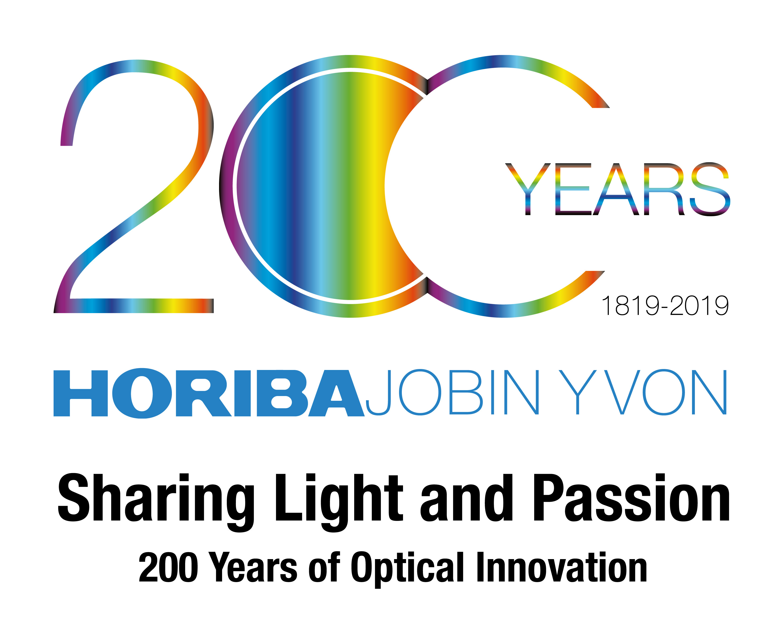 The 200th anniversary logo of the foundation of Jobin Yvon