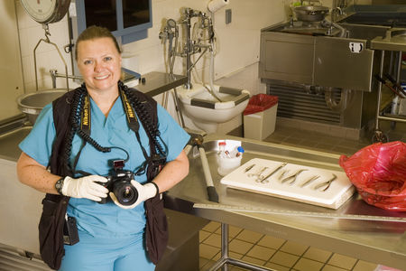 Heidi Nichols, a forensic photographer with the Miami-Dade County Medical Examiner's office