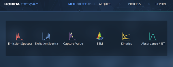 EzSpec Software Setup Menu