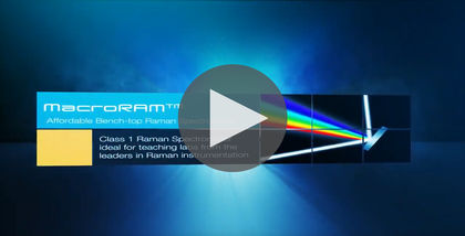 MacroRAM Affordable Benchtop Raman Spectrometer Video