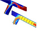 Flow simulation in pipes/bends